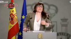 El día que Ana Morgade se sonó los mocos en la bandera de España y no pasó