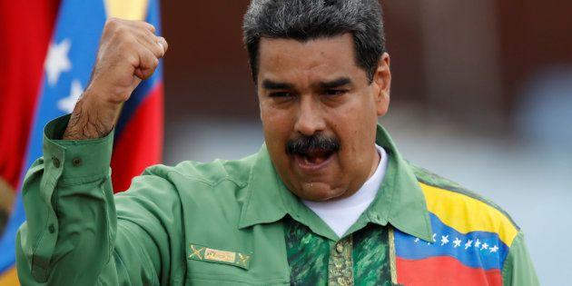 El presidente de Venezuela, Nicolás Maduro, durante un acto de campaña el pasado mayo, en