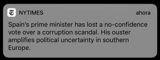 La alerta enviada por 'The New York Times' segundos después del nombramiento de