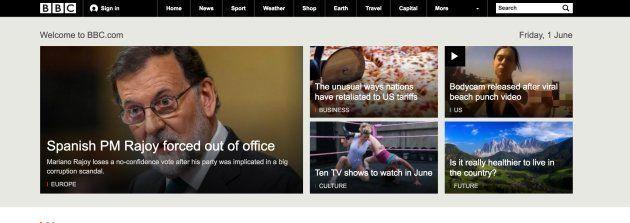 Apertura de la web británica