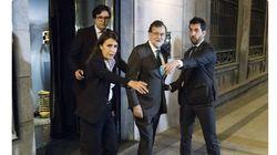 Bromas y memes en Twitter con la imagen de Rajoy saliendo del