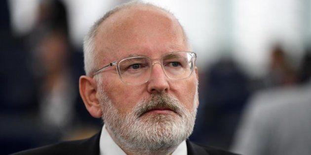 El vicepresidente primero de la Comisión Europea, el holandés Frans