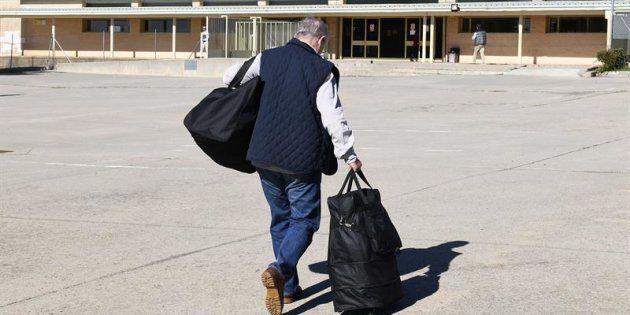 El exvicepresidente del Gobierno Rodrigo Rato a su llegada a la prisión madrileña de Soto del