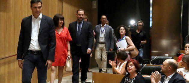Sánchez, Narbona, Ábalos, Gómez de Celis y Ruiz