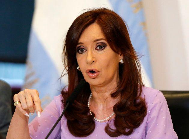La expresidenta de Argentina, Cristina Fernández de Kirchner, en una imagen de