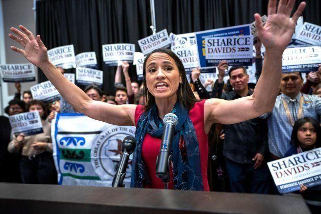 La candidata demócrata a la Cámara de Representantes de Kansas, Sharice