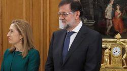 La cara de Rajoy durante la toma de posesión de Pedro