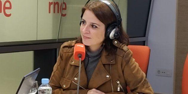 Adriana Lastra, este 7 de noviembre, en los estudios de