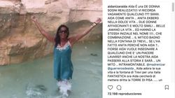 Multa de 450 euros a Aída Nízar por bañarse en la Fontana de