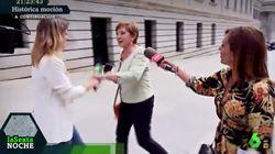 Indignación por el vergonzoso gesto de Celia Villalobos a Andrea Ropero en el