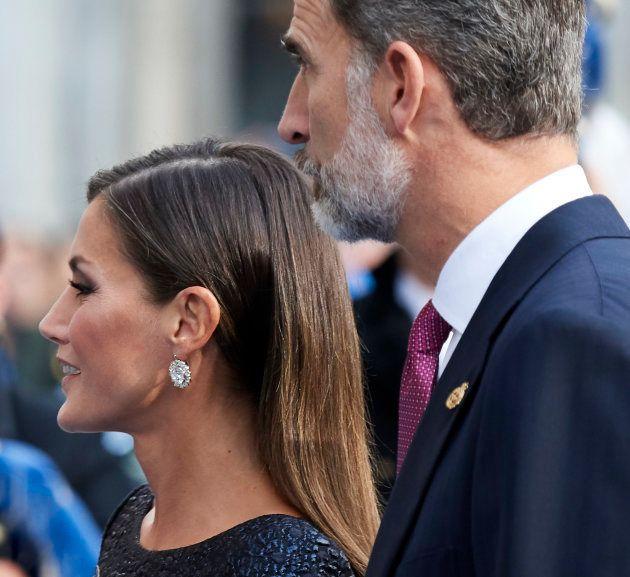 Los reyes Felipe VI y Letizia en la ceremonia de entrega de los premios Princesa de Asturias en