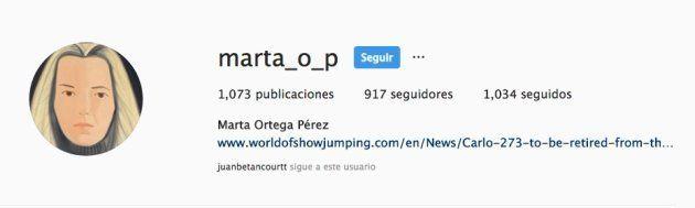 Instagram de Marta Ortega