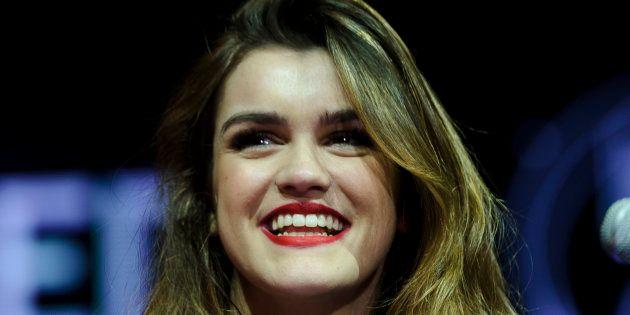 La cantante Amaia, fotografiada en Madrid el 24 de marzo de