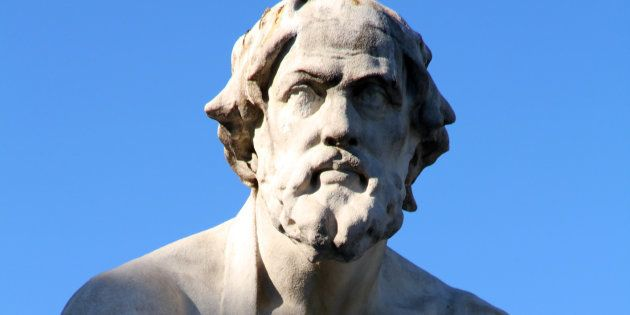Estatua del historiador griego