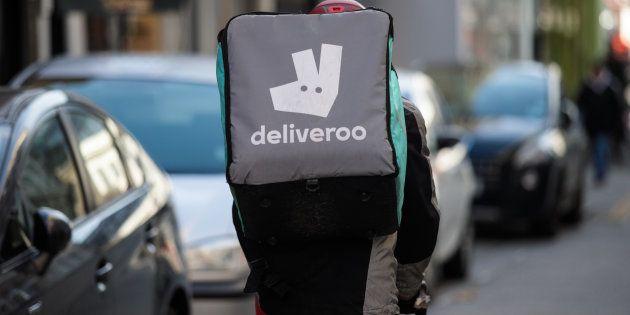 Un repartidor de Deliveroo en Londres
