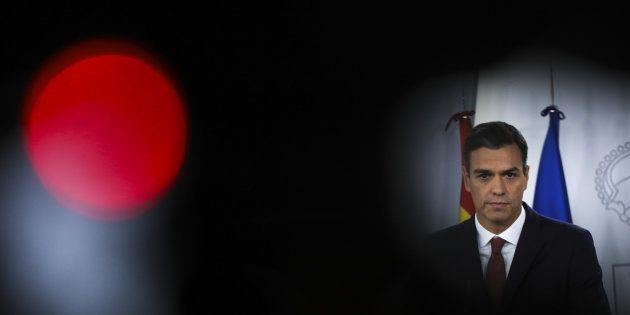 Pedro Sánchez, durante su comparecencia de ayer en La