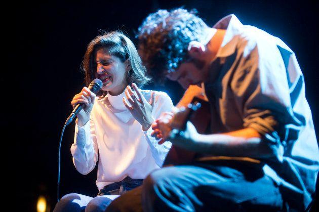 Maria Arnal i Marcel Bagés durante un concierto el 25 de abril de 2017 en