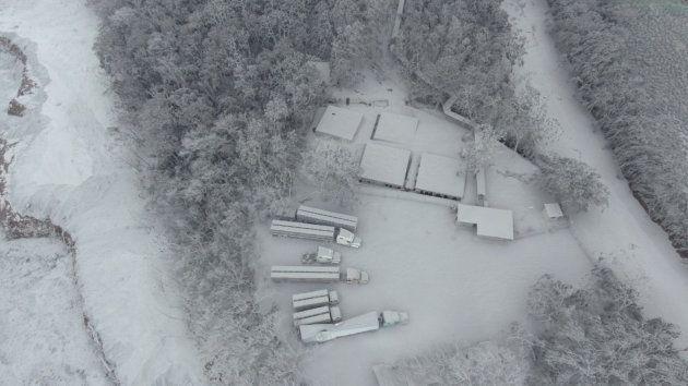 Vista aérea de la zona tras la