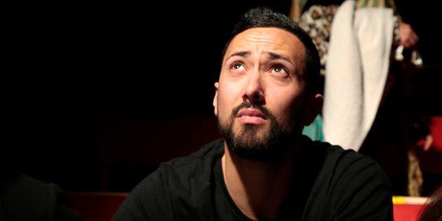 El rapero Valtonyc, durante una conferencia de prensa en Barcelona, el pasado 14 de