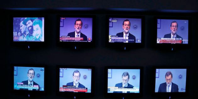 during a Partido Popular (PP) National Executive Committee meeting at party headquarters, in Madrid,...