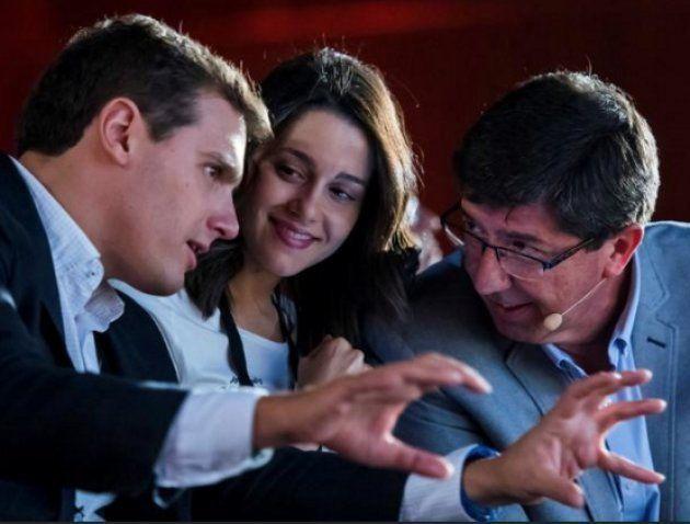 Rivera, Arrimadas y Marín, en un acto de