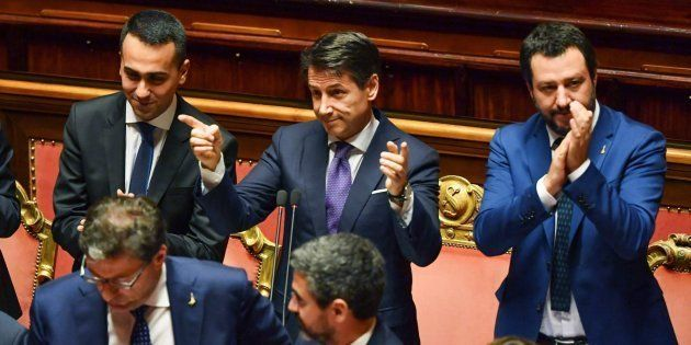 El nuevo primer ministro italiano, Giuseppe Conte, durante la sesión de este