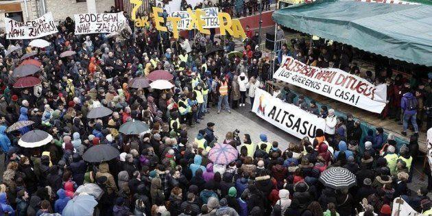 Foto de archivo de una manifestación en apoyo a los