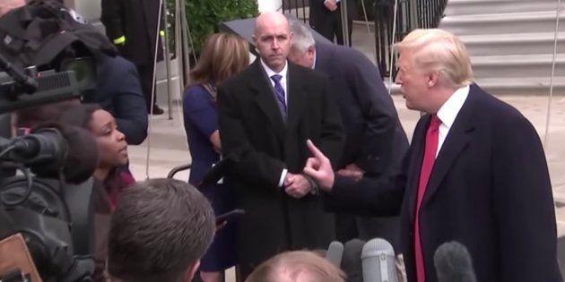 Captura del vídeo en el que Trump espeta a una periodista que su pregunta