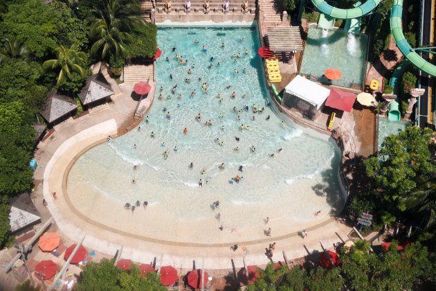 Parque acuático ubicado en la isla de
