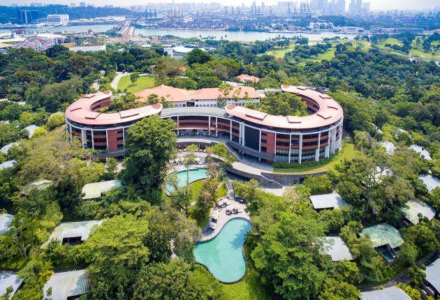 Vista aérea del Hotel