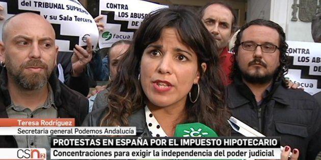 Teresa Rodríguez, líder de Podemos en Andalucía y candidata de Adelante