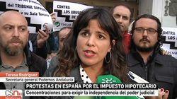 El enfado de Teresa Rodríguez por lo que ocurrió con ella en el informativo de Canal