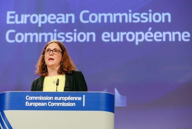 La comisaria europea de Comercio, Cecilia