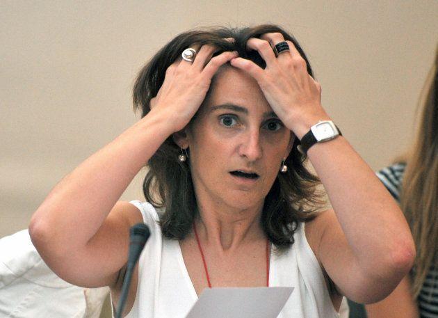 Ribera en 2008 durante un Consejo Informal de Ministros de Medio Ambiente Europeo en el parque Saint-Cloud,...