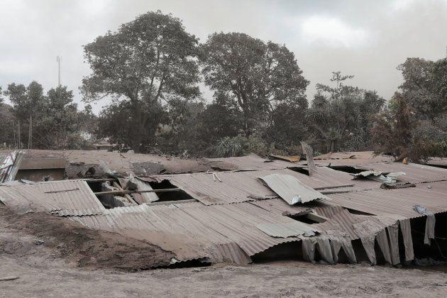 Vista de una de las zonas afectadas por la erupción del volcán
