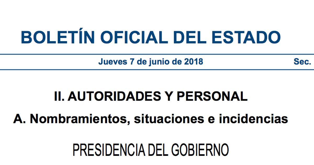 El Boe Publica Los Nombramientos Del Nuevo Gobierno De Pedro