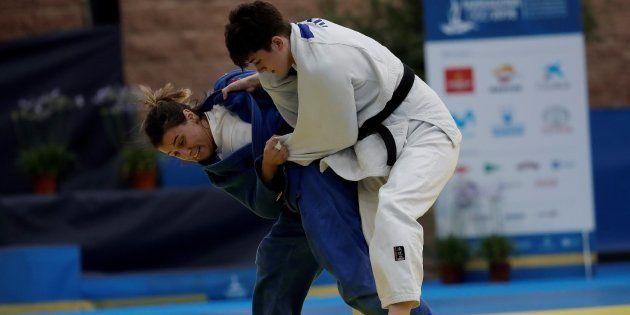 La judoka kosovar Laura