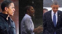 ¿No paras de ver fotos de Obama la lluvia? Este es el