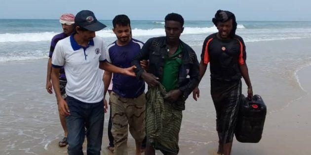 Fotografía de los supervivientes del naufragio, publicada por la