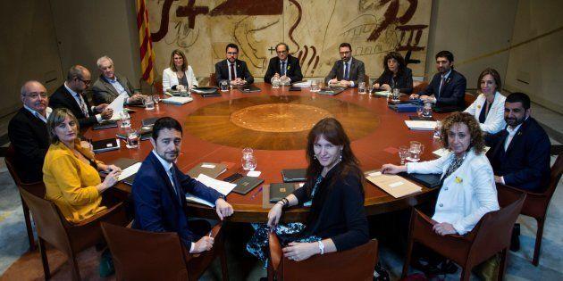 Reunión del Govern de la Generalitat, presidido por Quim