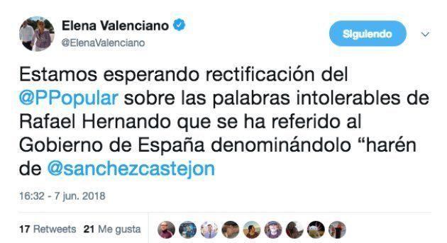 El bulo sobre Rafael Hernando hablando del