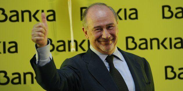 El exvicepresidente del Gobierno y expresidente de Bankia Rodrigo Rato en la salida a Bolsa de la