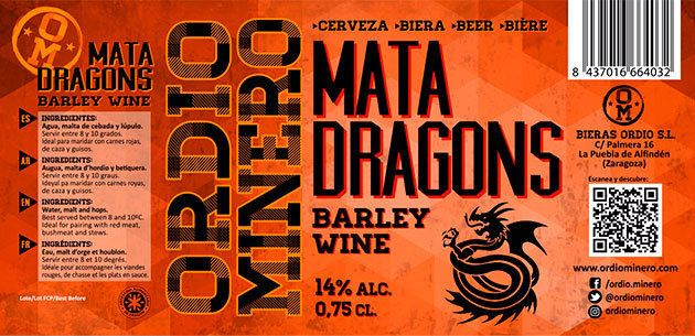 Etiqueta barley wine Ordio