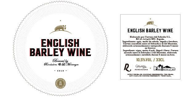 Etiqueta barley wine La