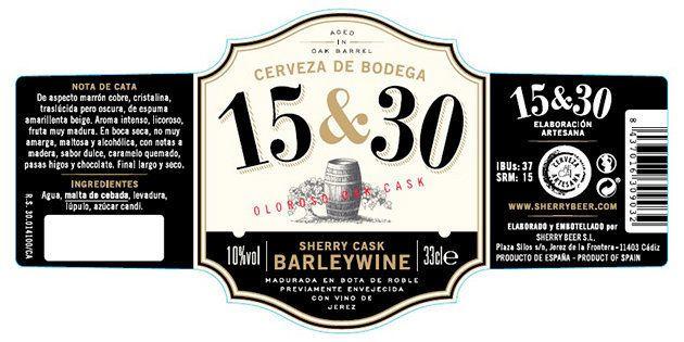 Etiqueta barley wine Sherry Beer 15 &
