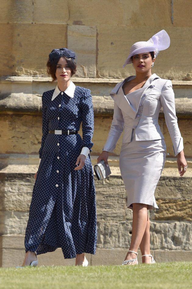 Abigail Spencer y Priyanka Chopra en la boda del príncipe Enrique y Meghan