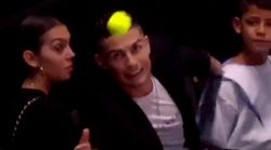 Cristiano intenta salvar a Georgina de un pelotazo... y todo acaba de la peor