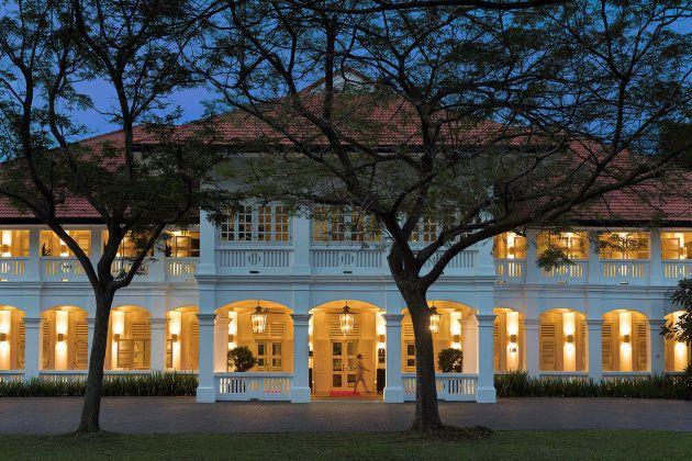 El hotel Capella Hotel, donde tendrá lugar el encuentro entre Trump y Kim