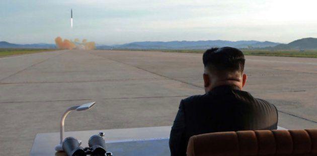 Imagen de archivo de Kim Jong-Un durante un ensayo