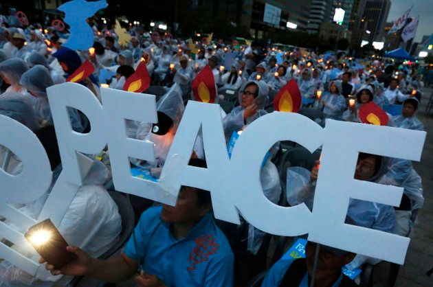 Manifestación por la paz con motivo del encuentro entre Trump y